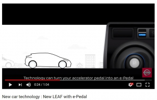 New car technology : New LEAF with e-Pedal